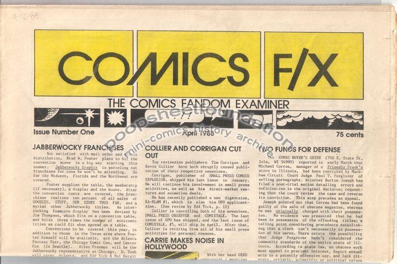 Comics F/X #01