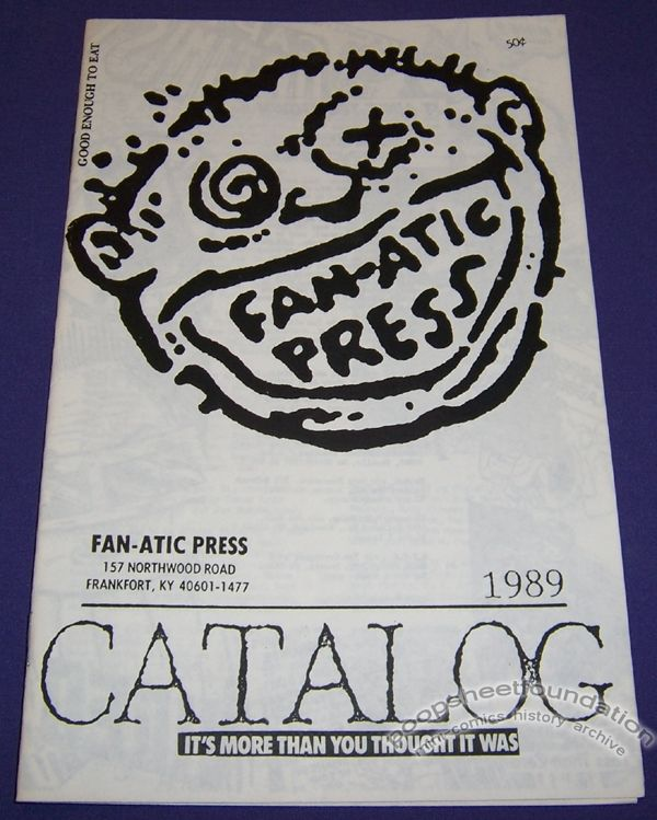 Fan-Atic Press Catalog 1989
