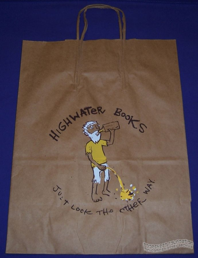 Highwater Books paper bag: Just Look the Other Way