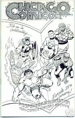Chicago Comicon 1986 program