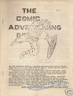 Comic Advertising Review, The #1