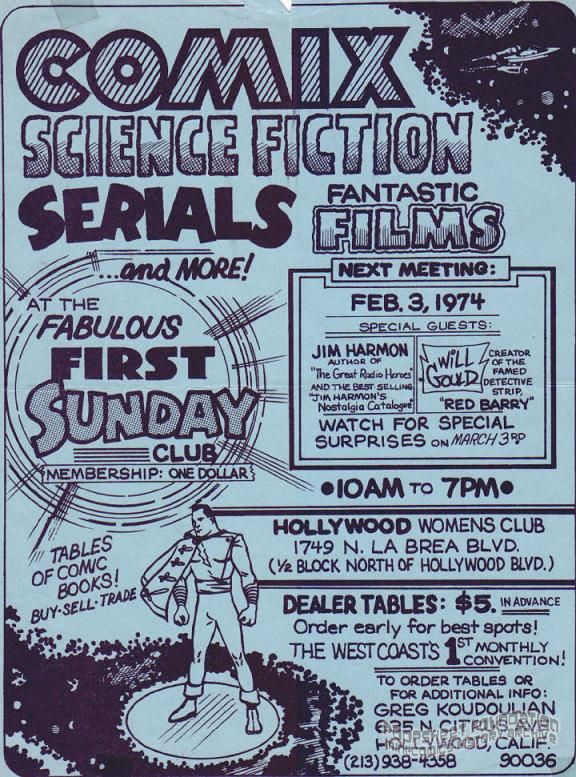 Fabulous First Sunday Club (February 3, 1974) flyer