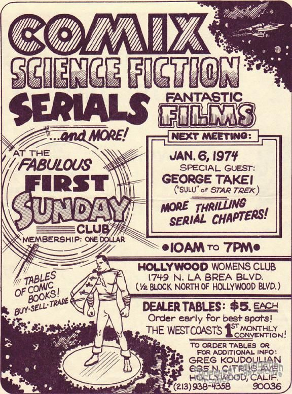 Fabulous First Sunday Club (January 6, 1974) flyer