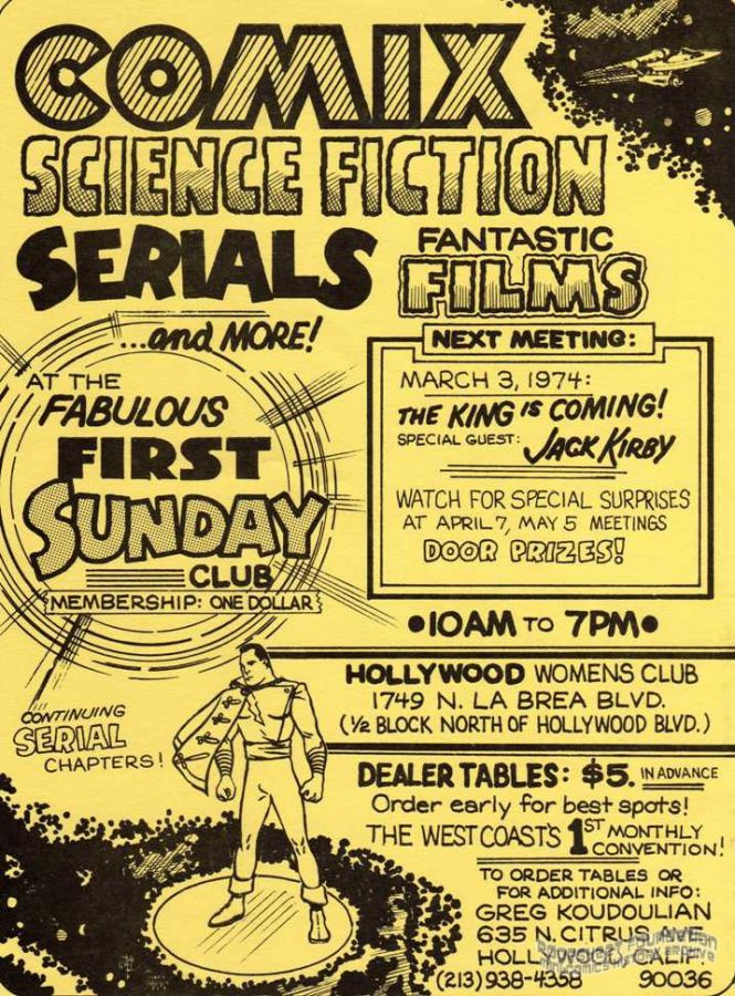 Fabulous First Sunday Club (March 3, 1974) flyer