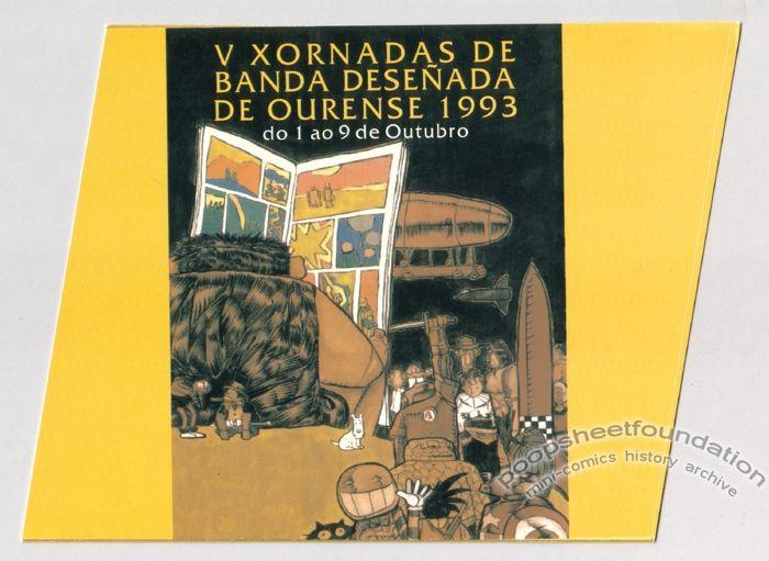 V Xornadas de Banda Deseñada de Ourense 1993 brochure