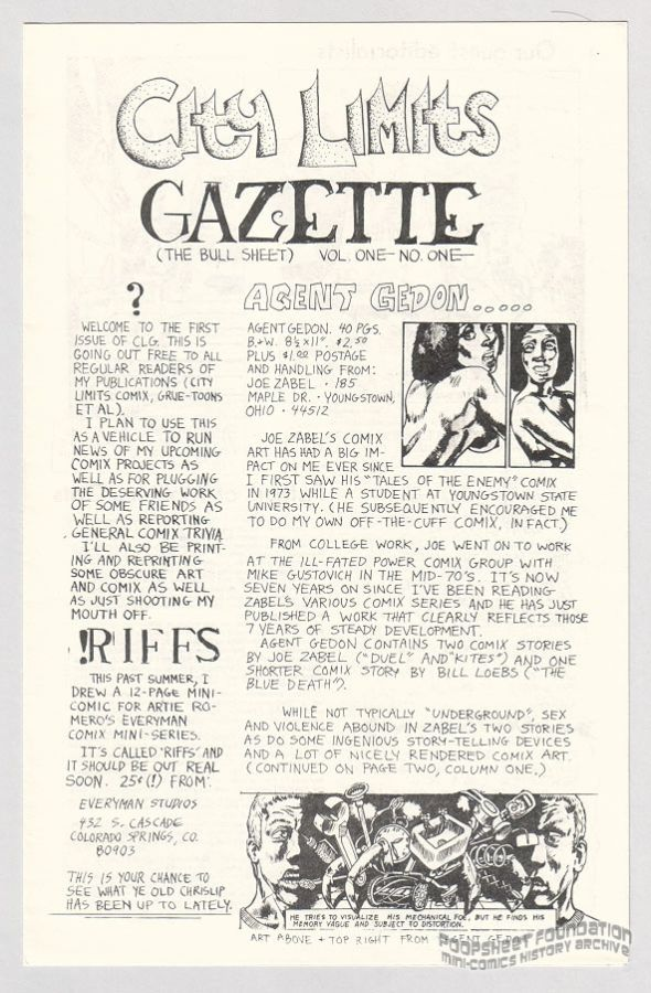 City Limits Gazette #01 (Chrislip)