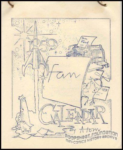 1959 Fan Calendar