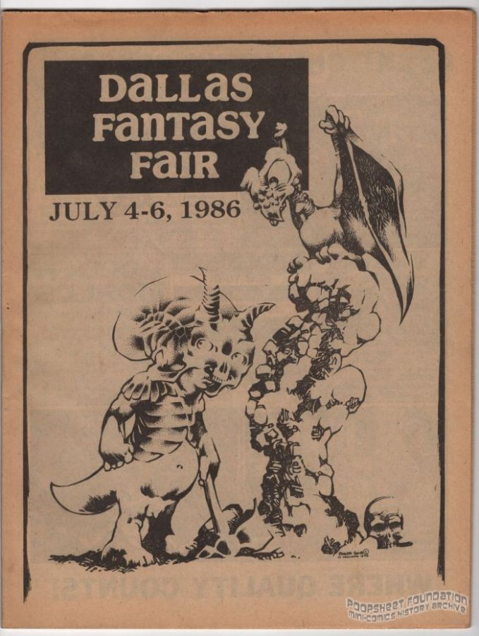 Dallas Fantasy Fair July 4-6, 1986 program
