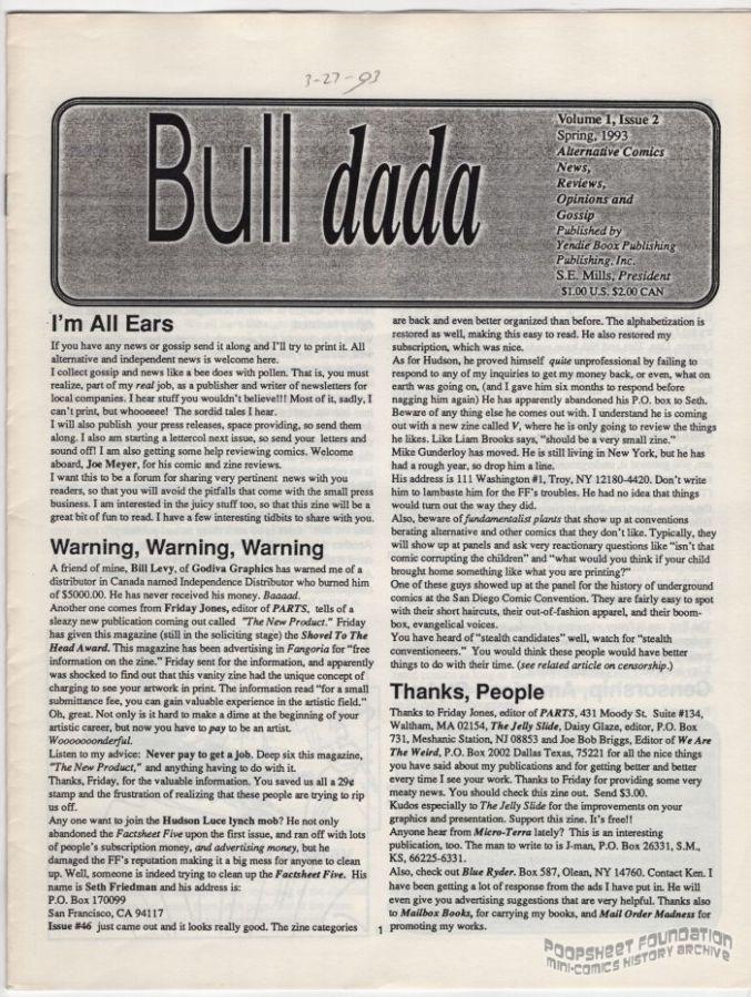 Bull Dada Vol. 1, #2