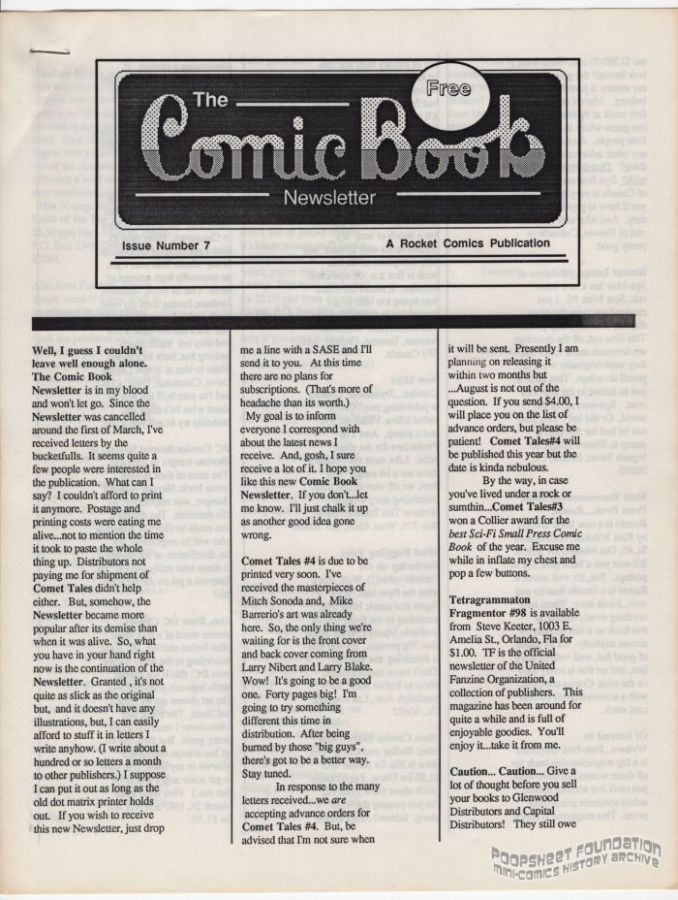 Comic Book Newsletter, The #07