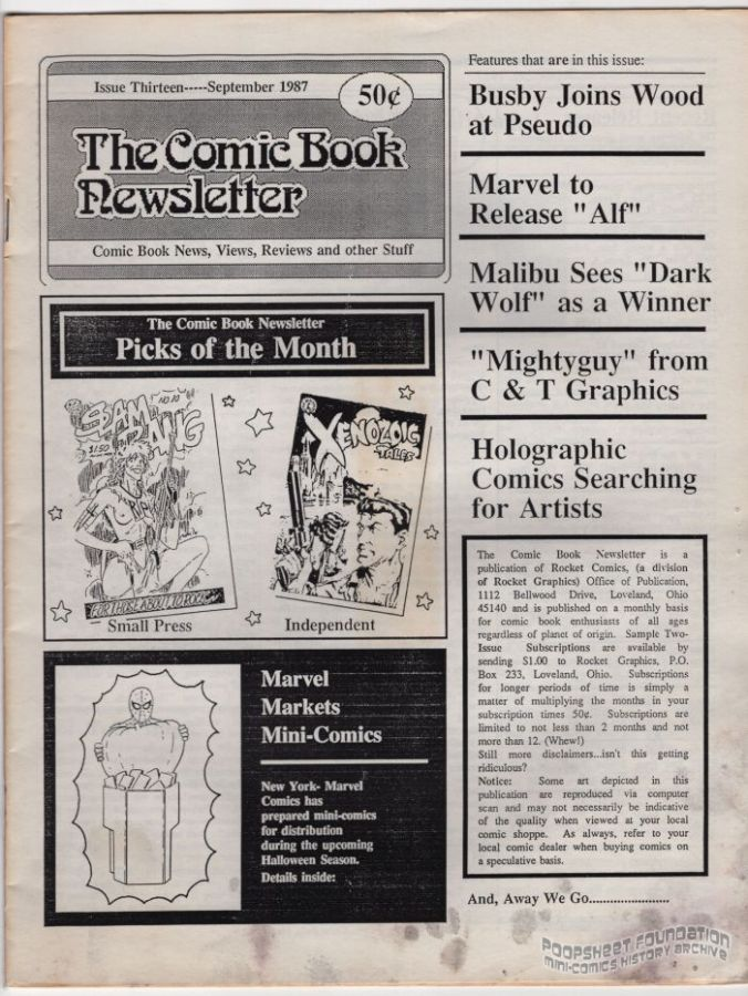 Comic Book Newsletter, The #13