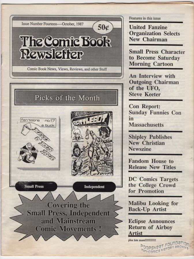 Comic Book Newsletter, The #14