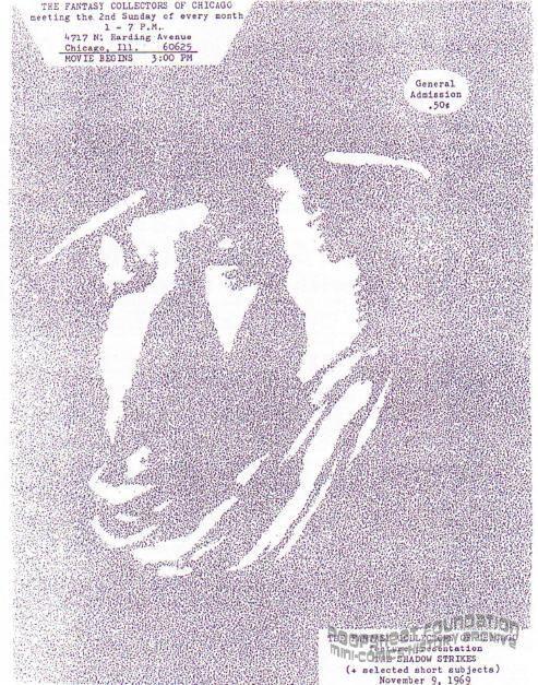 Fantasy Collectors of Chicago flyer for November 9, 1969
