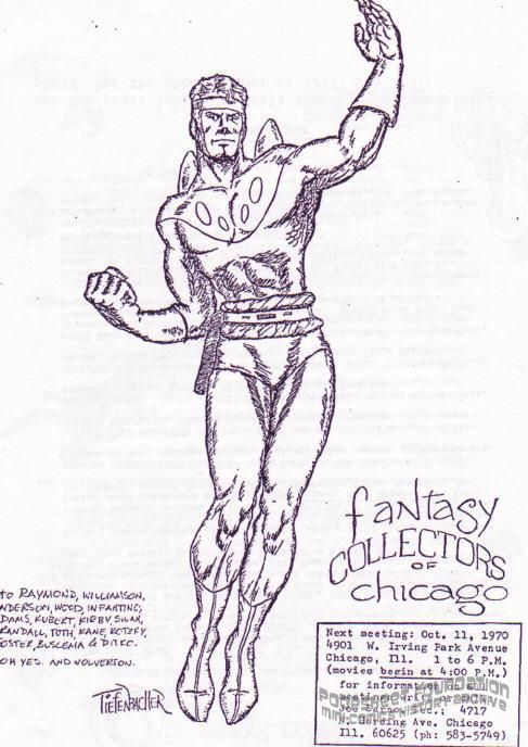 Fantasy Collectors of Chicago flyer for October 11, 1970