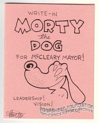 Write-In Morty the Dog for McCleary Mayor! (Danger Room)