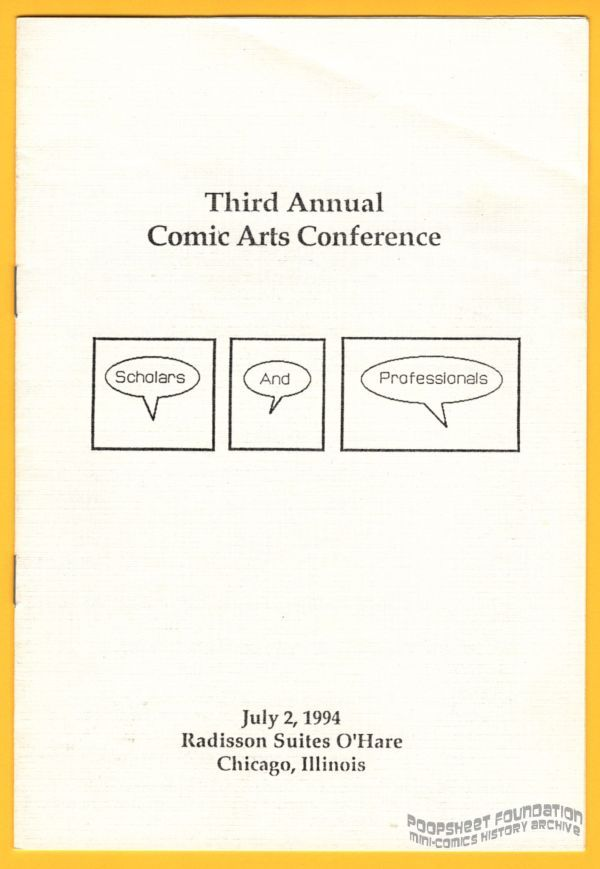 Third Annual Comic Arts Conference
