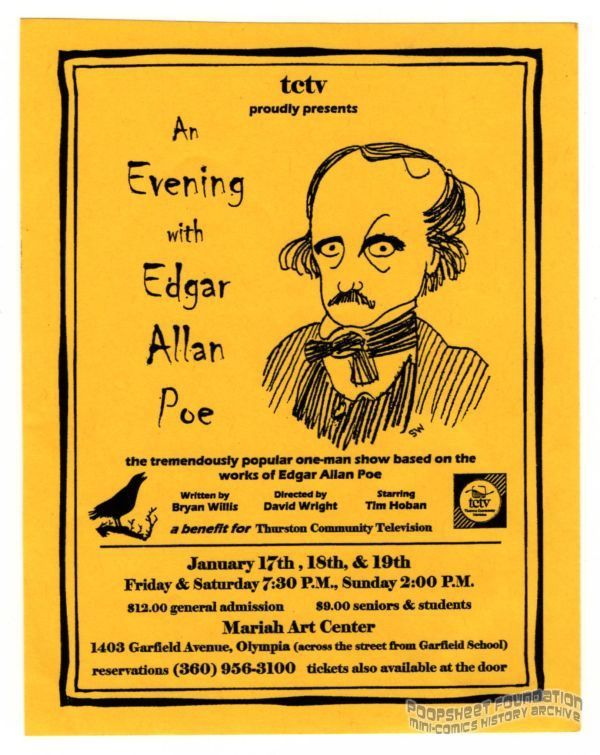 An Evening with Edgar Allan Poe flyer