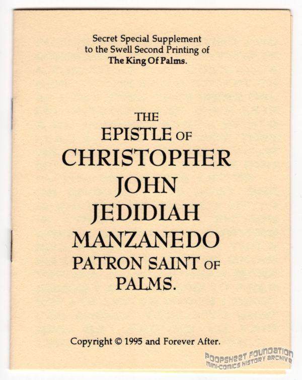 Epistle of Christopher John Jedidiah Manzanedo, Patron Saint of Palms, The