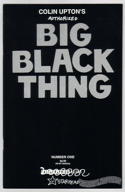 Colin Upton's Big Black Thing #1