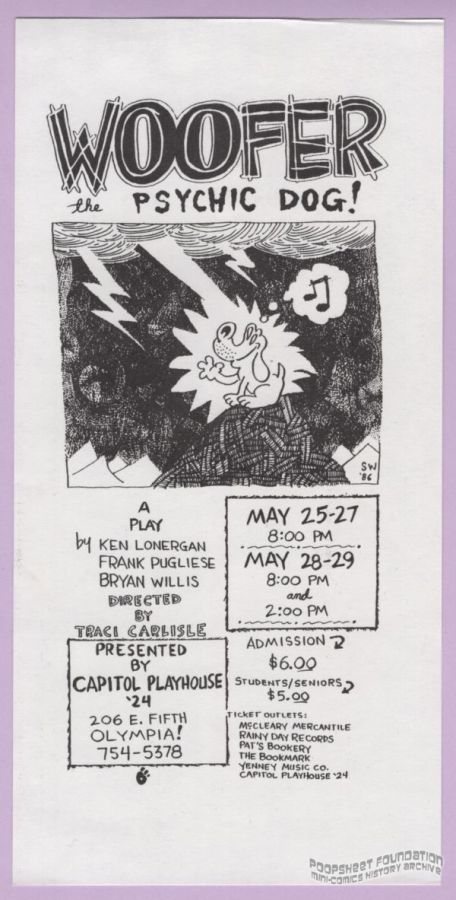 Woofer the Psychic Dog flyer