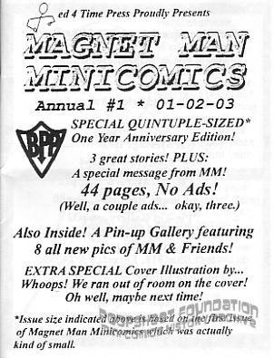 Magnet Man Minicomics Annual #1