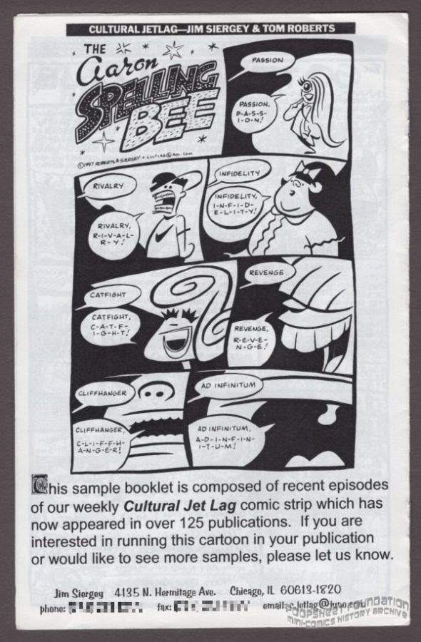 Cultural Jet Lag sample bookle...