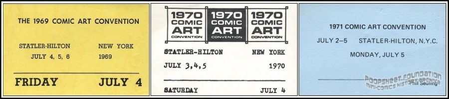 Comic Art Convention badges (1969-1976)