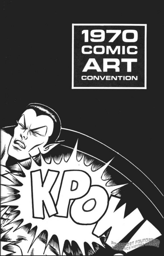 1970 Comic Art Convention program book