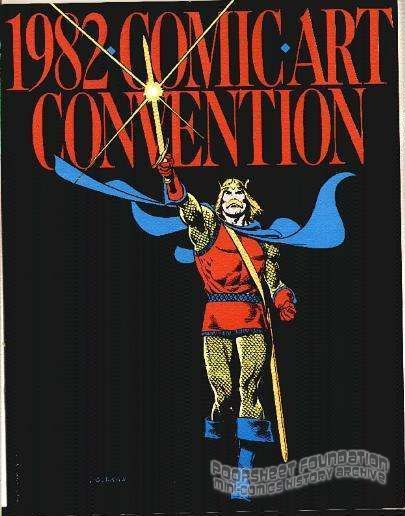 1982 Comic Art Convention program book