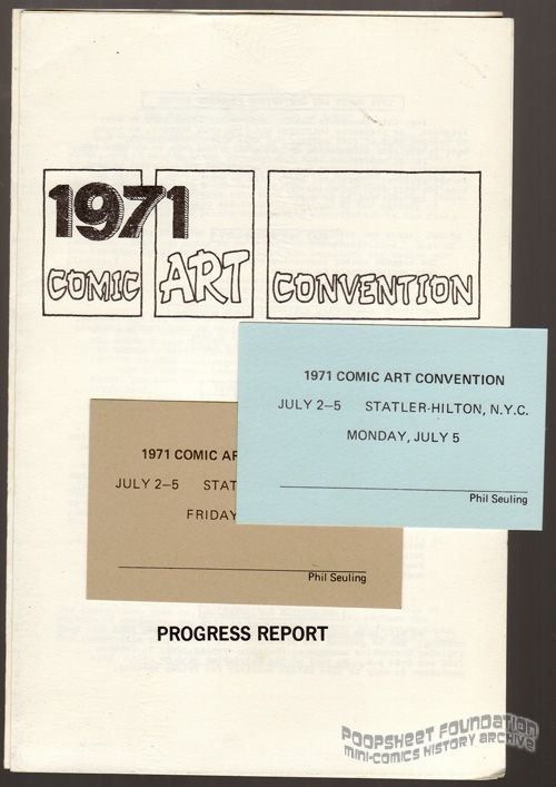 1971 Comic Art Convention Progress Report