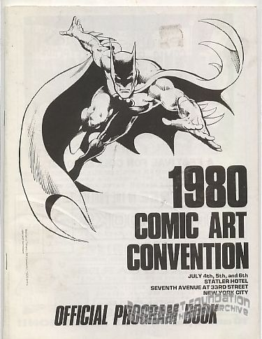 1980 Comic Art Convention program book