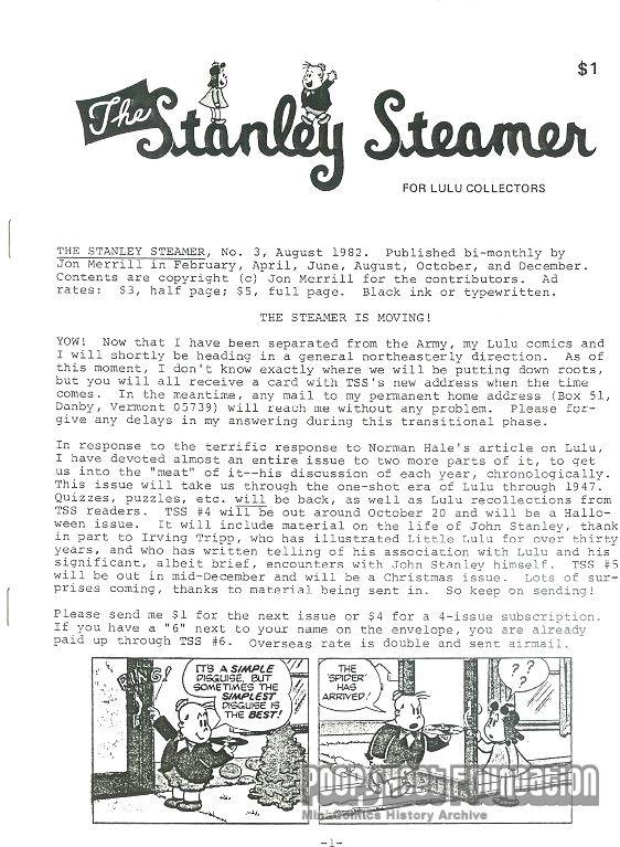 Stanley Steamer, The #3