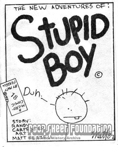 Micro-Comics #018: Stupid Boy