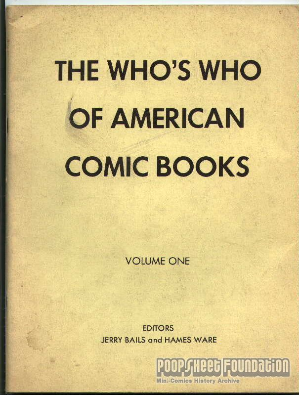 Who's Who of American Comic Books Vol. 1
