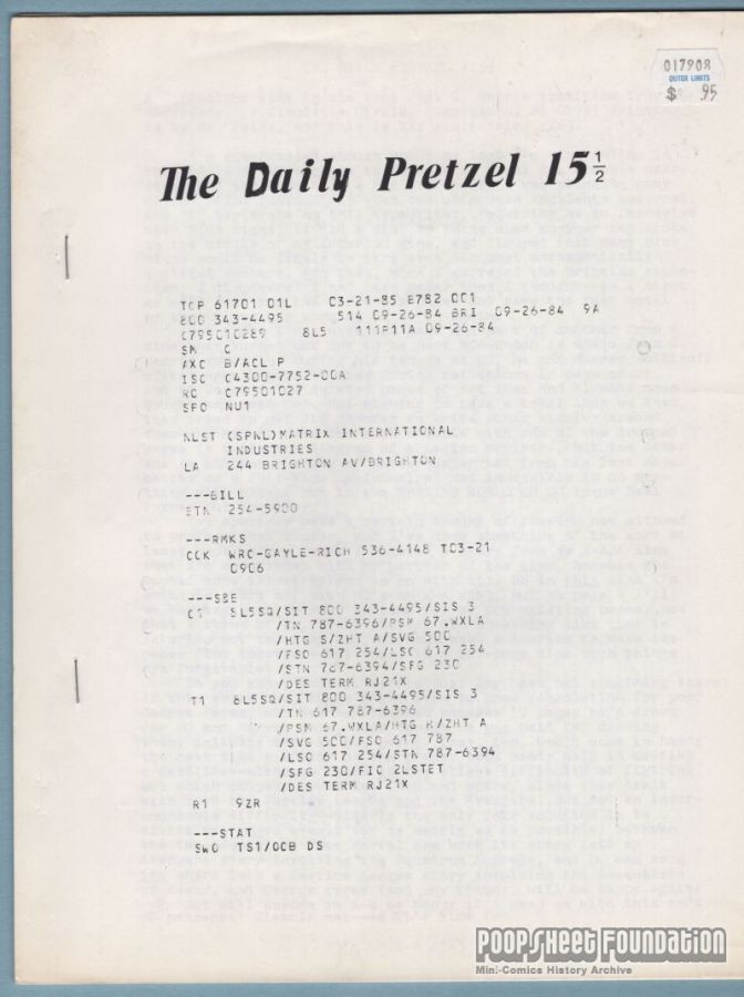 Daily Pretzel, The #15½