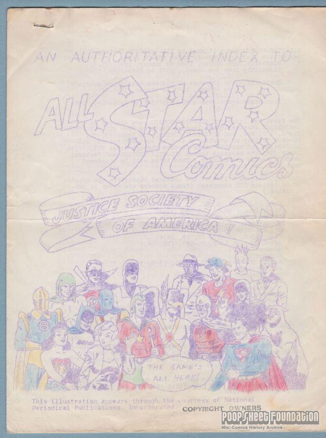 Authoritative Index to All Star Comics, An