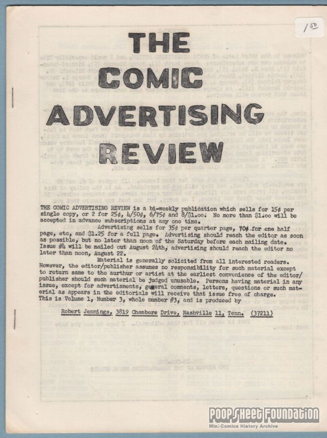 Comic Advertising Review, The #3