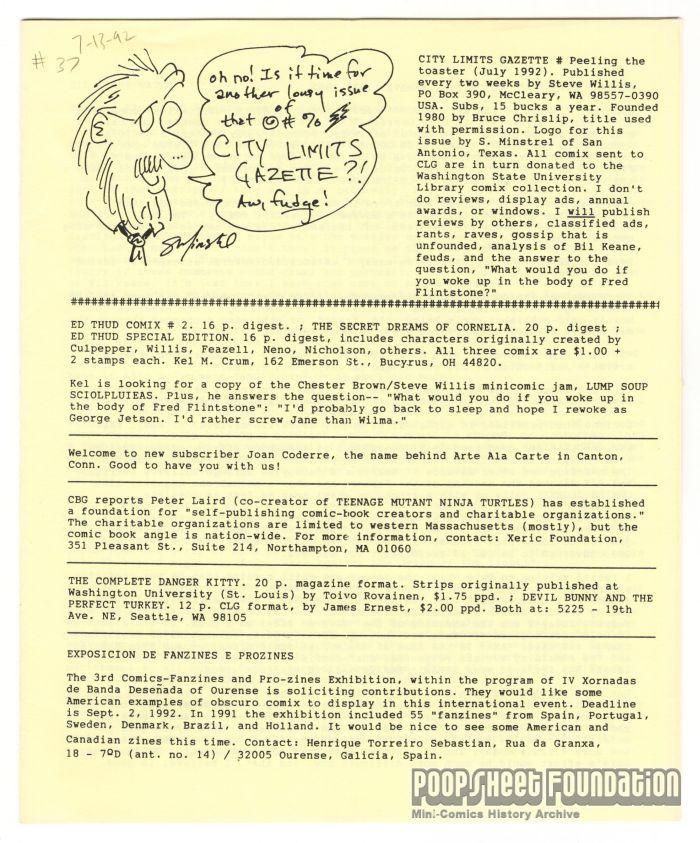 City Limits Gazette (Willis) July 1992, #Peeling the toaster