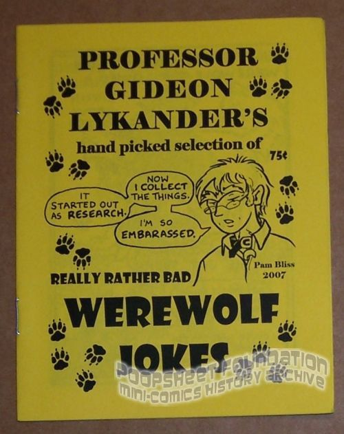 Professor Gideon Lykander's Hand Picked Selection of Really Rather Bad Werewolf Jokes