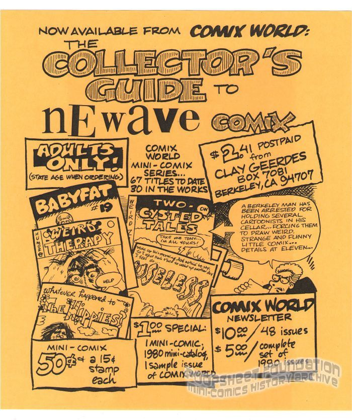 Comix World flyer (Collector's Guide - Holman)
