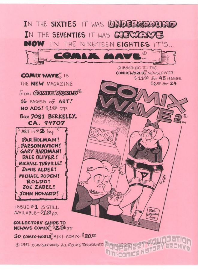 Comix World flyer (Comix Wave #2)