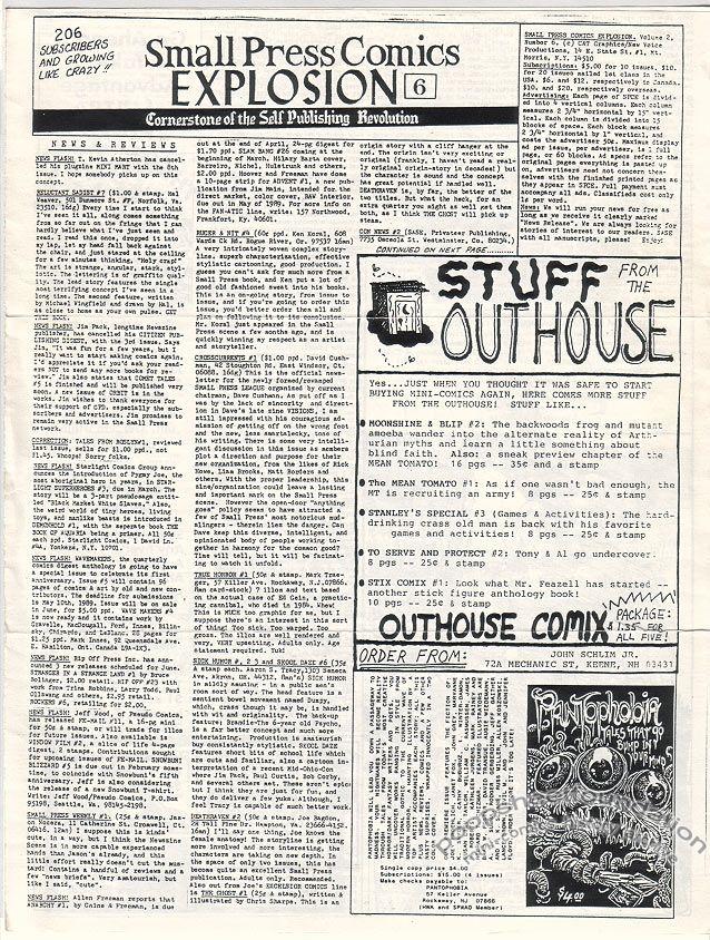 Small Press Comics Explosion Vol. 2, #6