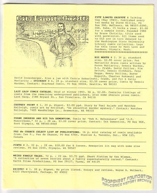 City Limits Gazette (Willis) May 1993, #Talking Dog