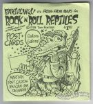 Frogs From Mars Rock n Roll Reptiles postcard set