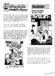 Chuckles Productions Newsletter December 1985/January 1986