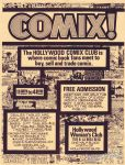 Hollywood Comix Club flyer