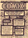 Hollywood Comix Club flyer