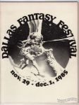 Dallas Fantasy Festival November 29-December 1, 1985 program