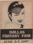 Dallas Fantasy Fair June 5-7, 1987 program