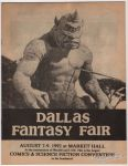 Dallas Fantasy Fair August 7-9, 1992 preview